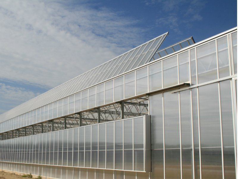 Greenhouse gable system with custom gable ventilation