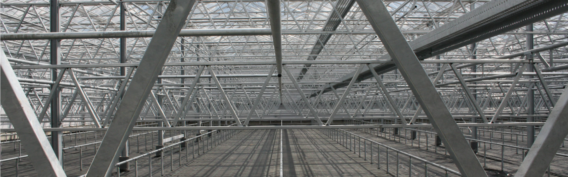 Steel greenhouse strucuture